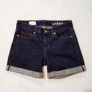 Gap Real Straight Jean Shorts in Indigo Rinse